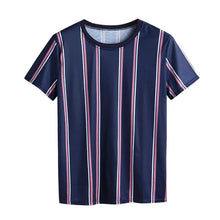 Load image into Gallery viewer, Men T-shirt 2019 New Arrival Summer Fashion T-Shirts Striped Shirts Short O-neck Top Blouse Men t-shirt Casual Short Sleeve