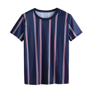 Men T-shirt 2019 New Arrival Summer Fashion T-Shirts Striped Shirts Short O-neck Top Blouse Men t-shirt Casual Short Sleeve