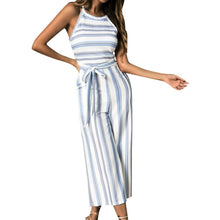 Load image into Gallery viewer, Womail bodysuit Women Summer Sleeveless Long Jumpsuit Multicolor Striped Jumpsuit loose Casual fashion High Quality 2019 A18