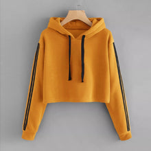 Load image into Gallery viewer, Hoodies Sweatshirt Women Ladies Striped Long Sleeve Pullovers Jumper Casual Solid Hooded Female Coat Poleron Mujer Moletom