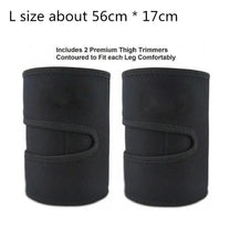 Load image into Gallery viewer, Leg Shaper Sauna Sweat Thigh Trimmers Calories off Anti Cellulite Weight Loss Slimming Legs Fat Thermo Neoprene Compress Belt