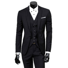 Load image into Gallery viewer, 2019 High Quality Men Blazer Masculino Thin Suits Fashionable Clothes Slim Fit Three Pieces Suit Blazer (Jacket+Pants+Vest) Sets