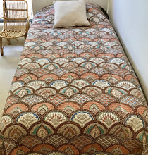 Load image into Gallery viewer, Padded Luxe • The Gypsy • Earth • Queen Bedspread Quilt