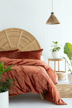 Load image into Gallery viewer, Velvet Dreams • Terracotta • Queen Duvet Cover & 2 x Pillowcases