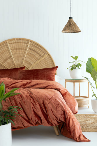 Velvet Dreams • Terracotta • Queen Duvet Cover & 2 x Pillowcases