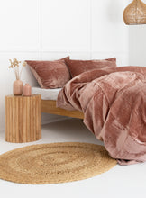 Load image into Gallery viewer, Velvet Dreams • Blush Pink • Queen Duvet Cover & 2 x Pillowcases