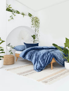 Velvet Dreams • Soft Blue • Queen Duvet Cover & 2 x Pillowcases