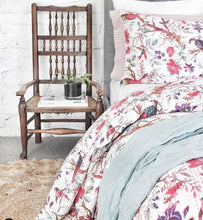 Load image into Gallery viewer, The Birdie • White • Picnic square Kantha Throw