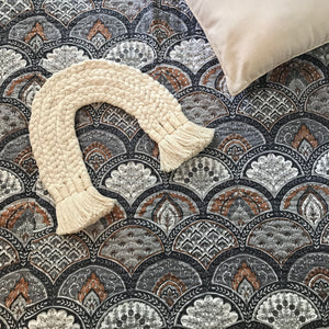 Padded Luxe • The Gypsy • Stone • Queen Bedspread Quilt