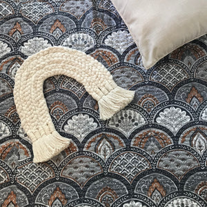Padded Luxe • The Gypsy • Stone • Single Bedspread Quilt
