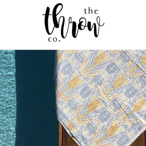 Padded Luxe • The Arrow • Grey / Yellow • Square Picnic Throw
