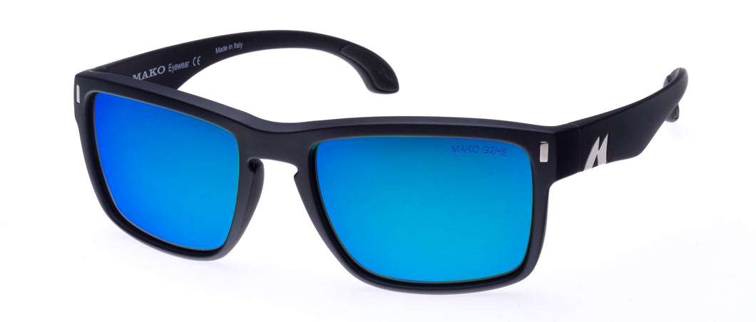 Mako GT Polarized Sunglasses with Blue Mirror Lens