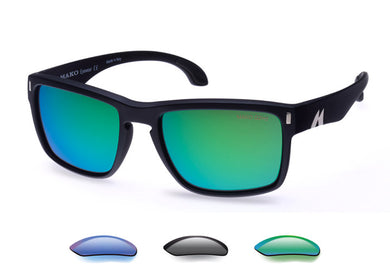 Mako GT Polarized Sunglasses with Rose Green, Gray or Blue Mirror Lenses