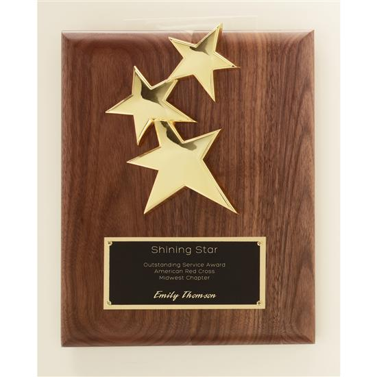 Constellation Plaque - Walnut Gold