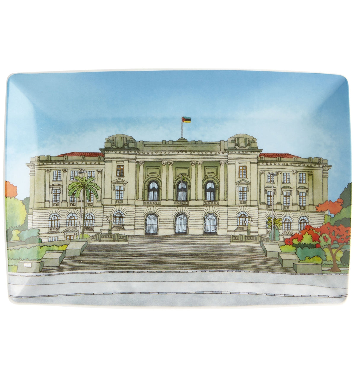 Rectangular plate City Hall - Alma de Maputo - Dinnerware - Vista Alegre