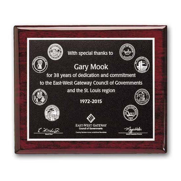 Photocast Plaque - Rosewood