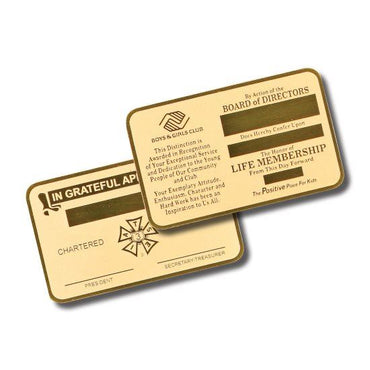 Wallet Card - Brass