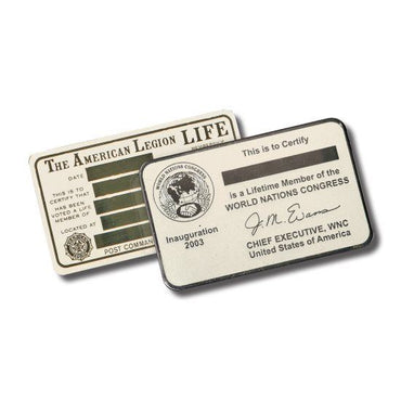 Wallet Card - Nickel Silver