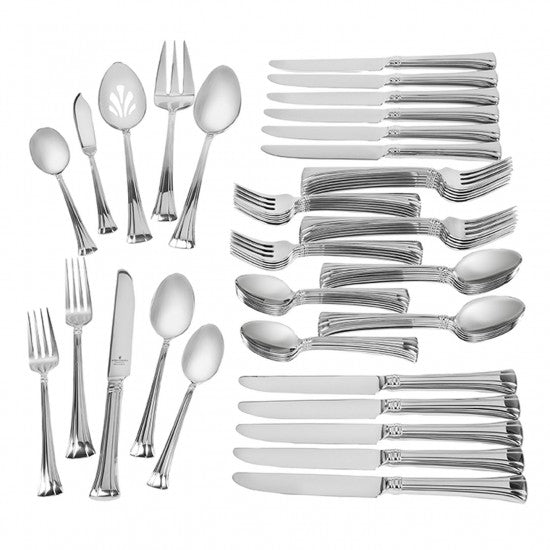 Mont Clare Stainless 65-Piece Flatware Set