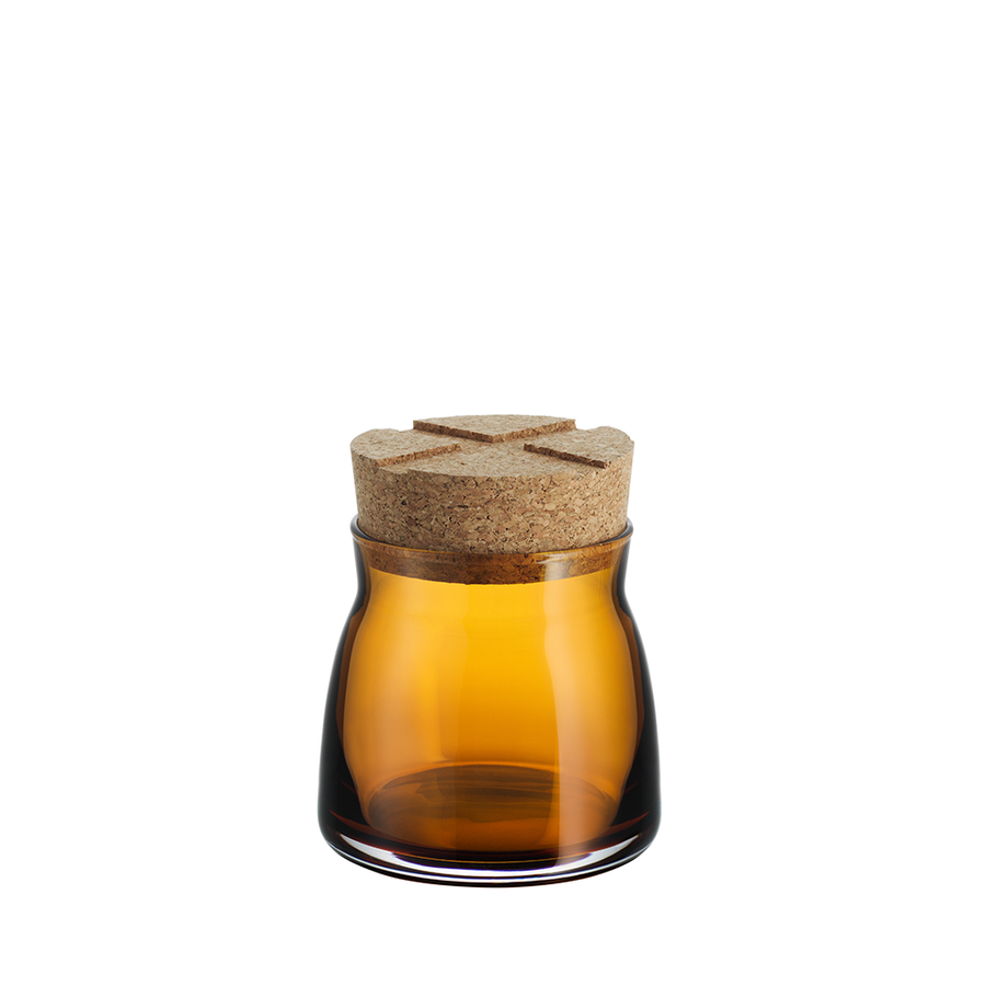 Bruk Jar with Cork (amber, small)