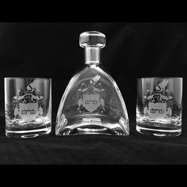 Waterford Decanter Set with Deep Etching of your Logo or message