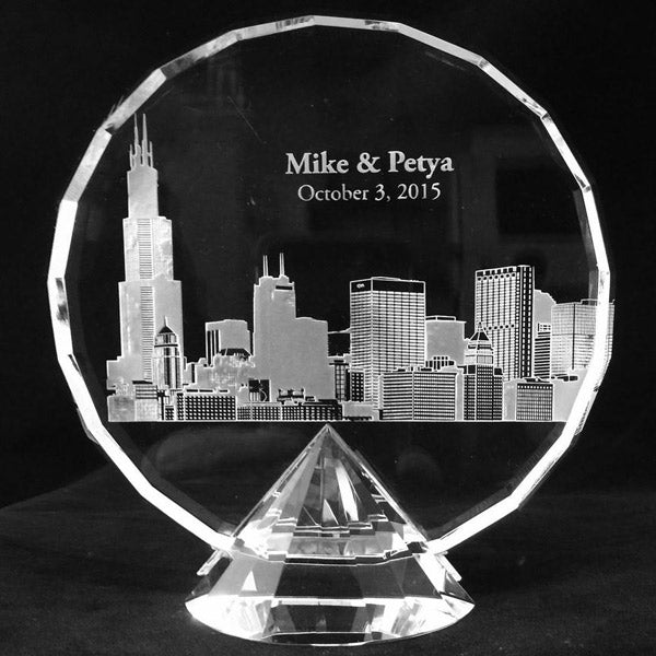 Pedestal Crystal With Custom Engraving