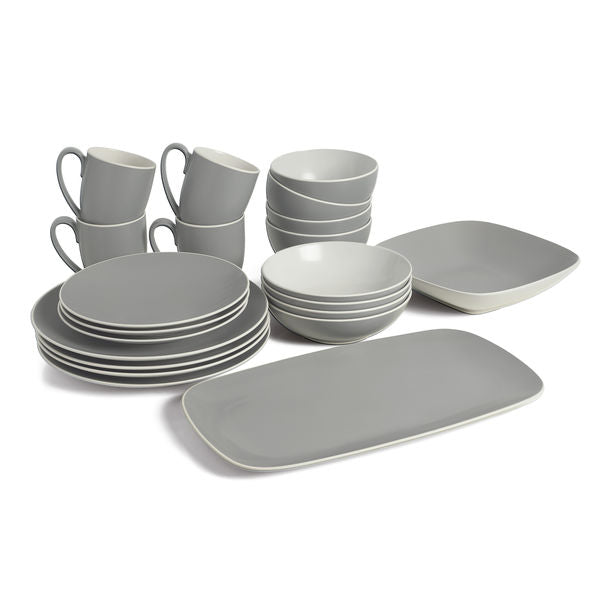 POP Starter Dinnerware Bundle - Slate (22 Pieces)