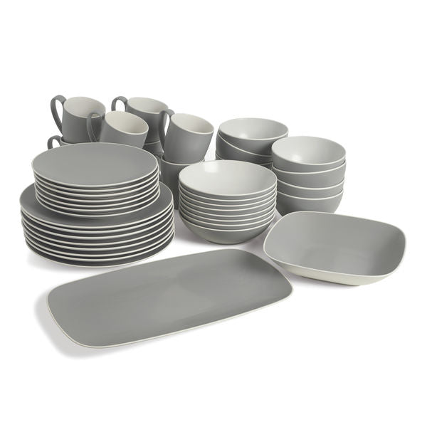 POP Complete Dinnerware Bundle - Slate (42 Pieces)