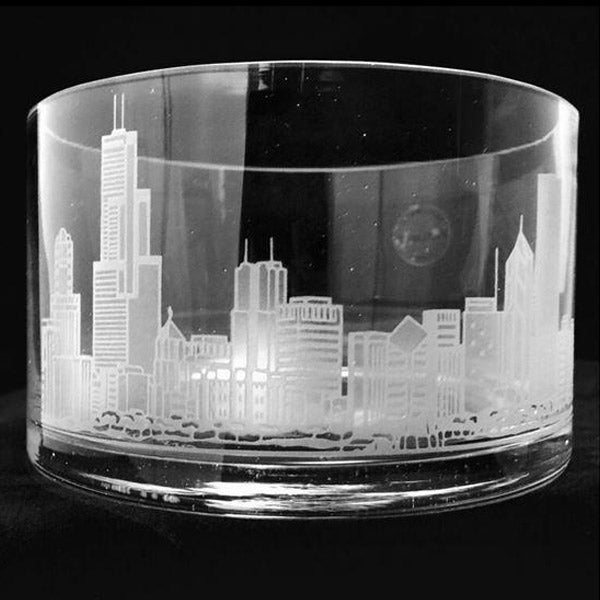 Candy Dish With Engraved Skyline