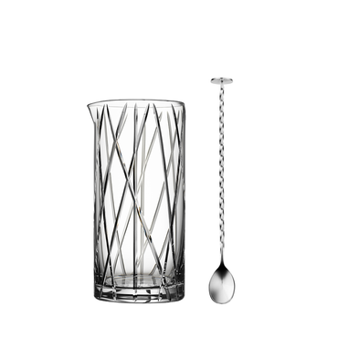 City Mixing Glass including bar spoon
