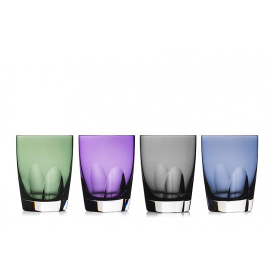 W Assorted Colors Tumblers, Set of 4