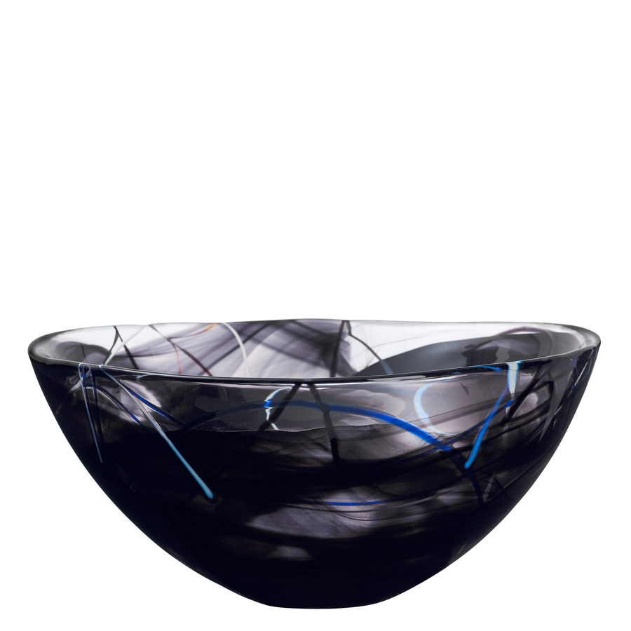 Contrast Bowl, Black Large