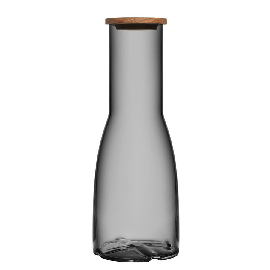 Bruk Carafe with Oak Lid (smoke grey)