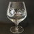 Cognac Prestige Brandy Snifter Sand carved with Fako Association Logo