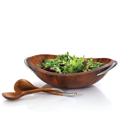Braid Salad Bowl W/ Servers