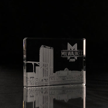 Skylines Rectangle Paperweight