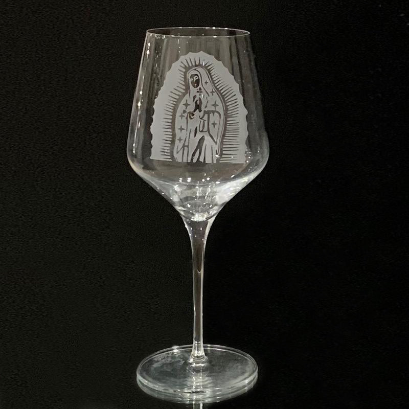 Our lady Oy Guadalupe - Stem Wine Glass