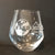 Stemless Wine Glass Sand carved with Fako Association Logo
