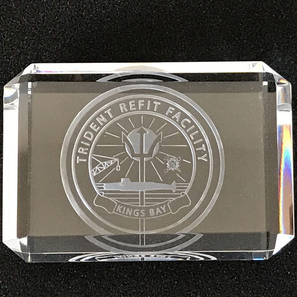 Trident Refit Logo Crystal Paperweight