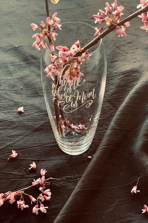 Mother's Day Vase - Custom Message