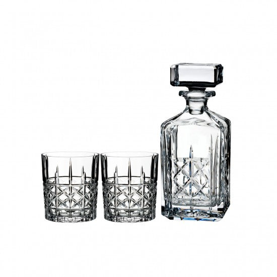 Brady Double Old Fashioned, Pair with Decanter