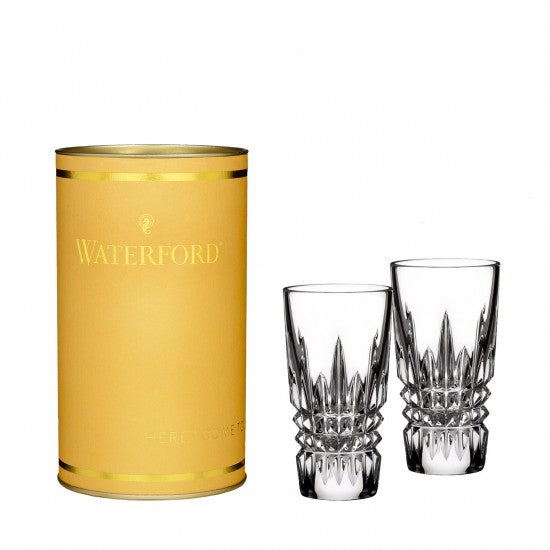 Giftology Lismore Diamond Shot Glass, Pair
