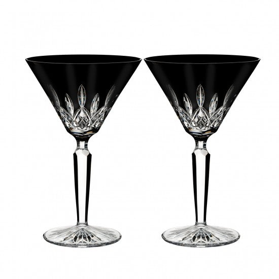 Lismore Black Martini, Pair