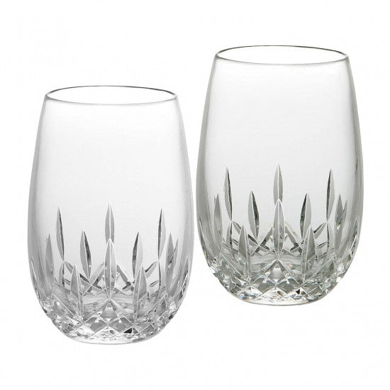 Lismore Nouveau Stemless White Wine, Pair