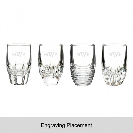 Mixology Assorted Clear Shot Glass, Set of 4