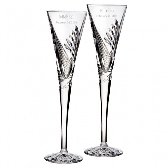 Wishes Beginnings Toasting Flute, Pair