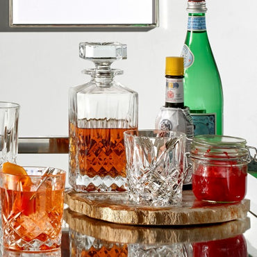 Markham 11oz Double Old Fashioned, Pair & Square Decanter
