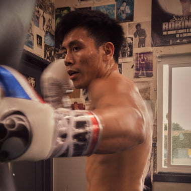 World-champion boxing coach Julian Chua training at Wildcard Boxing Club.