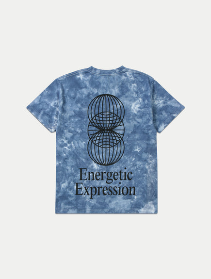 ASYSTEM x Studio Institute<br>Energetic Expression Unisex Blue Tie-Dye Tee