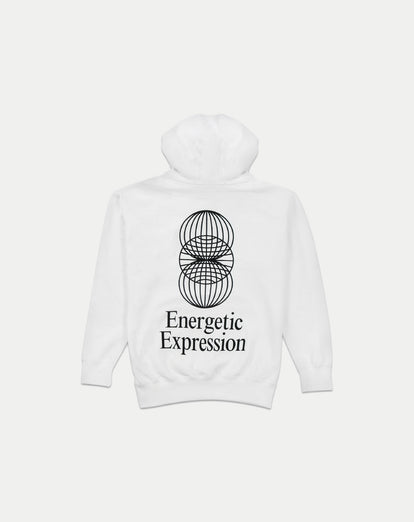 asystem white hoodie flat lay back